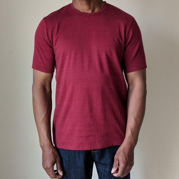 Dkny Shirts Mens Burgundy Striped Tshirt Poshmark